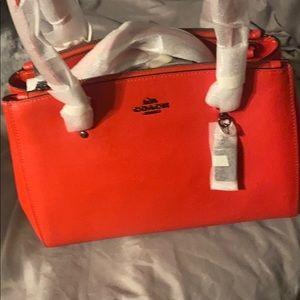Beautiful Red Coach Bag
